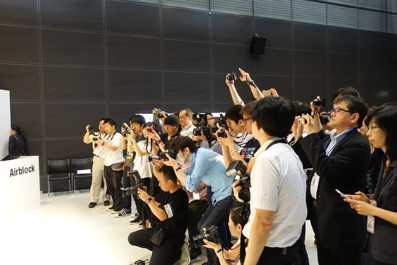 Makeblock's Japan office set-up and Airblock release conference attracted many Japanese media