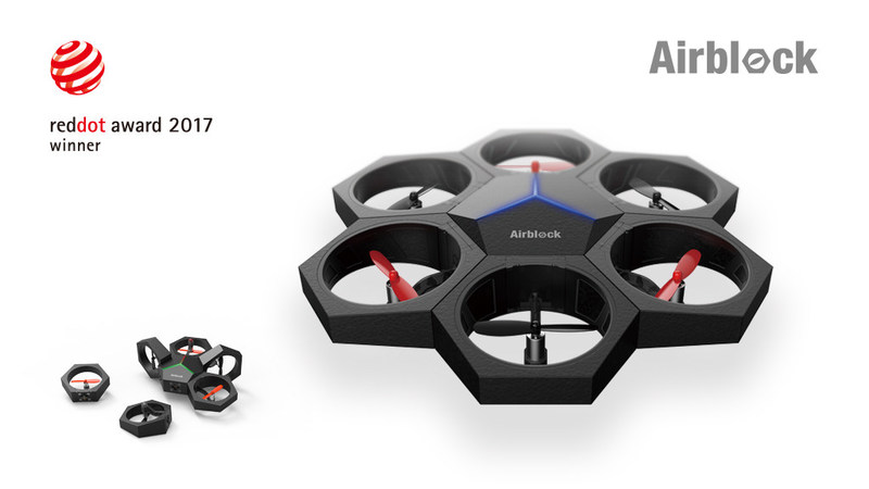 The world's first entry-level modular and educational drone that turns into a hovercraft, both programmable and transformable.