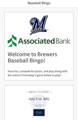MLB.com Ballpark App - Brewers Baseball Bingo