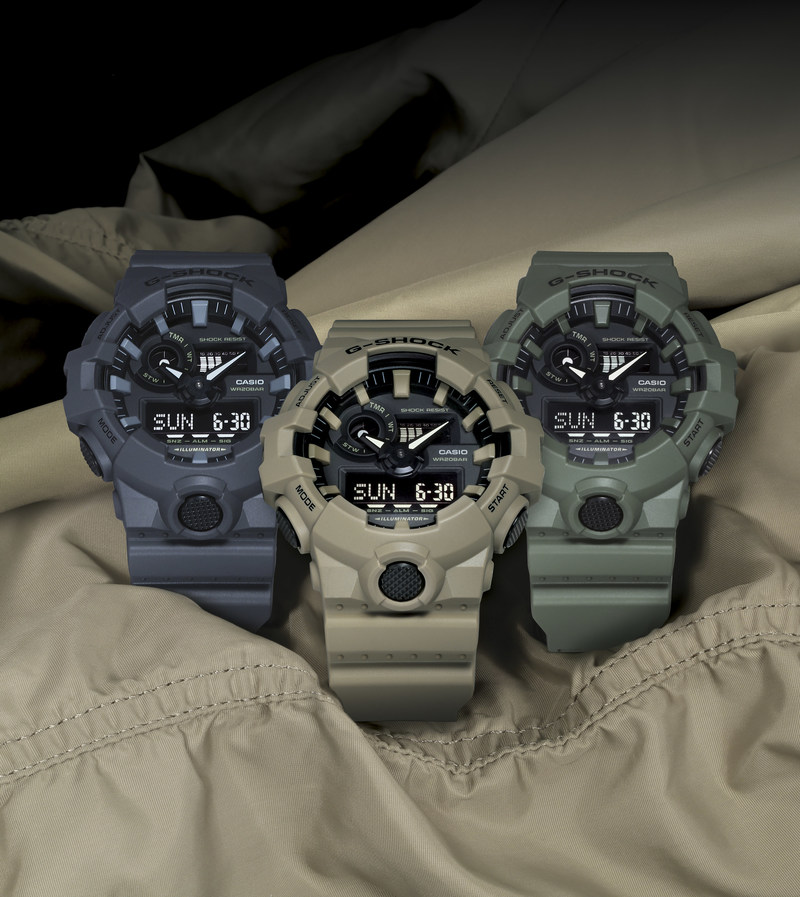 The New G-SHOCK GA700 Utility Color Collection