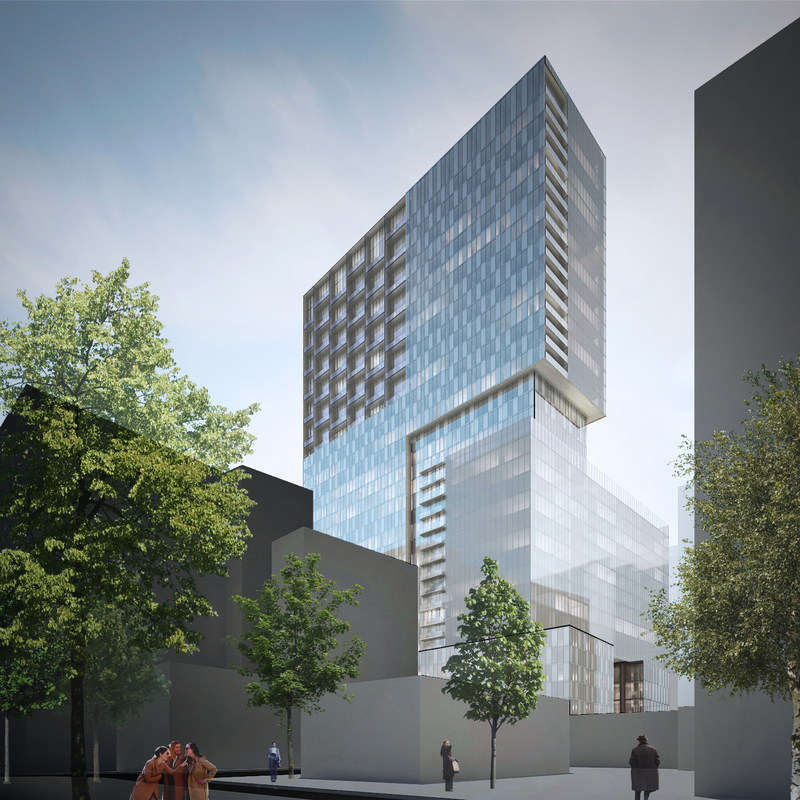 Construction starts on HUMANITI Montréal, which will include a Marriott Autograph Collection hotel (CNW Group/Cogir immobilier)