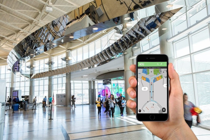 Passengers can easily navigate the airport via new way-finding technology