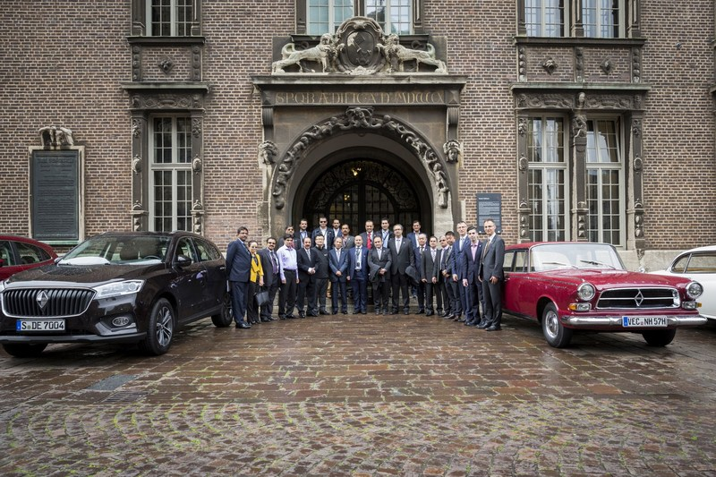 Borgward will expand its market presence by entering the markets of Middle Eastern countries. The associated agreements were signed in Bremen City Hall by representatives of the countries UAE, Bahrain, Kuwait, Qatar, and Iran as well as by the CEO of Borgward Group AG, Ulrich Walker. The city of Bremen has played a major role in the automaker's history, because the company founder, Carl F.W. Borgward, manufactured more than one million vehicles here until 1961. (PRNewsfoto/Borgward Group AG)