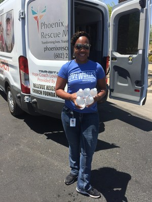 Movement Mortgage volunteers spent the afternoon delivering water and other heat-relief items directly to those living on the streets in the Phoenix area.