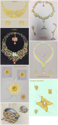Finalists of Gem-Set Gold Jewellery Category