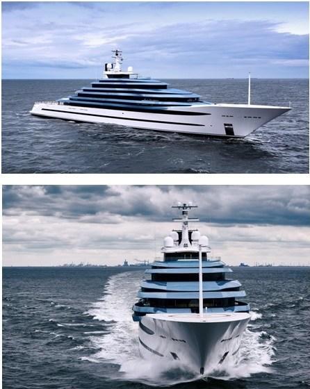 Oceanco delivers 110M/361FT Jubilee photo 2 (PRNewsfoto/Oceanco)