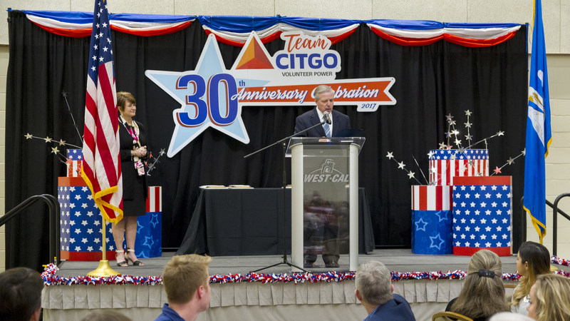 Rep. Mike Danahay presenting a special proclamation to TeamCITGO on behalf of the Louisiana Legislature.
