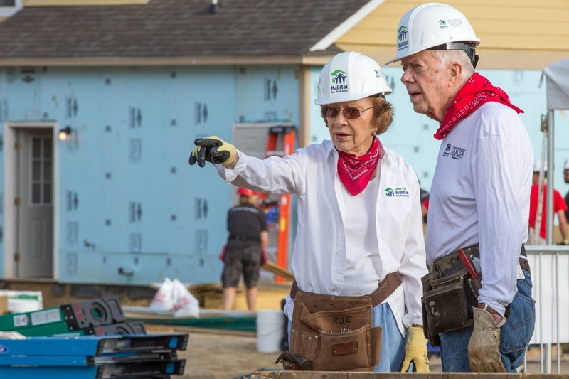 Rosalynn Carter and President Carter. (CNW Group/Habitat for Humanity Canada)