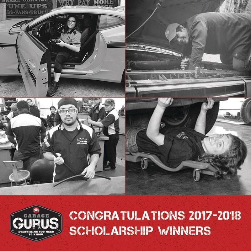 Congratulations to the 2017-2018 Garage Gurus Scholarship Winners!