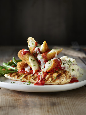 Applebee's new Topped and Loaded entrees are customizable, with four protein choices, three delicious toppers and four side options. These craveable entrees – like this grilled chicken breast topped with crispy mozzarella sticks, classic marinara sauce and parmesan cream sauce – are available for a limited time, starting at only $10.99.