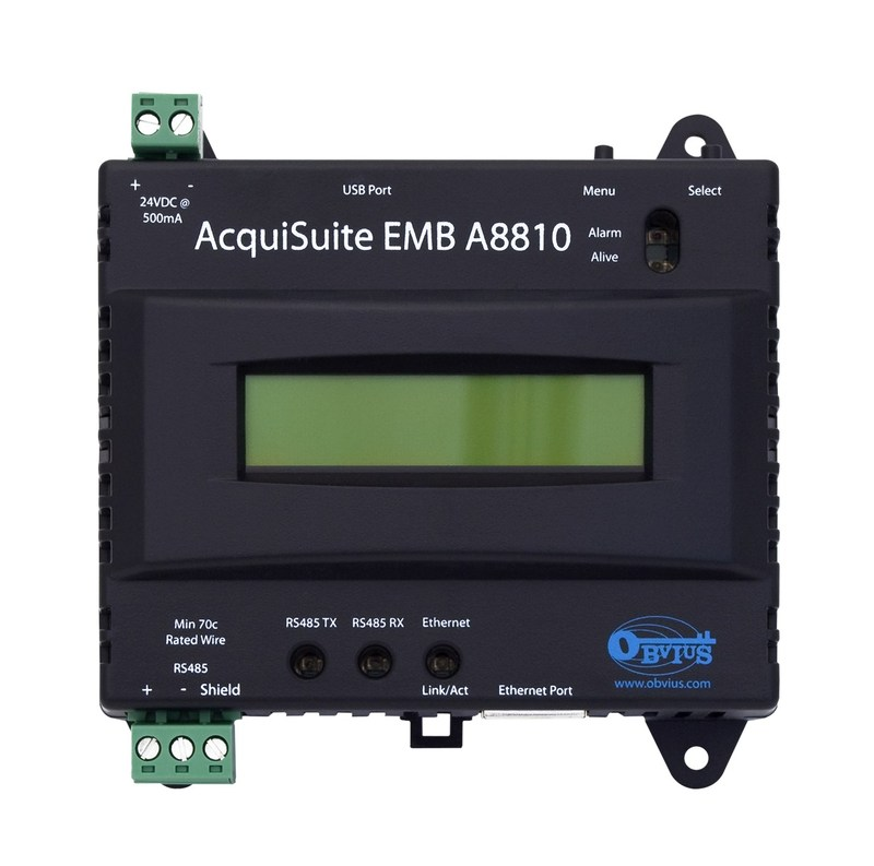 AcquiSuite offers streamlined read and write capability with new plug and play SunSpec ModBus Drivers