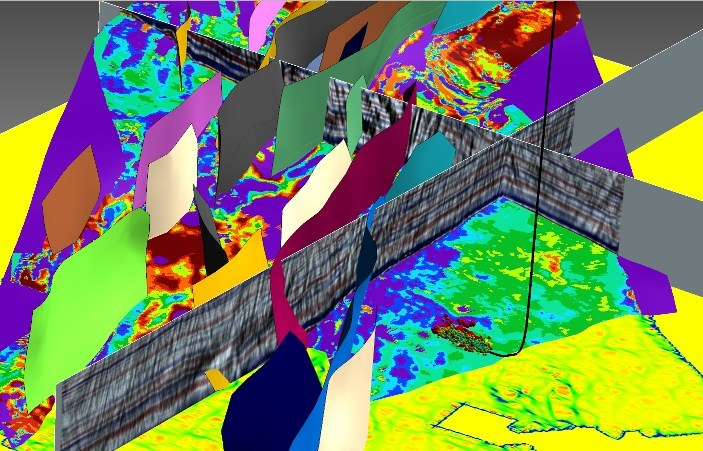 Display of data integration in a subsurface model using Paradigm SKUA-GOCAD™ in the Eagle Ford shale.