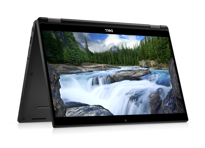 Caption:  Dell Latitude 7000 13-inch 2-in-1 7389 Tent Mode