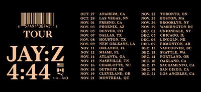 JAY-Z Announces 4:44 Tour