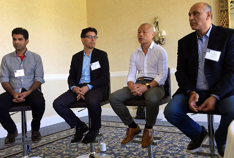From left to right, Pramod Sharma, CEO and Founder, Osmo; Gil Elbaz, Founder and CEO, Factual; Jack Huang, CEO and Founder, Gizwits; Hovhannes Avoyan, CEO and Founder, PicsArt.