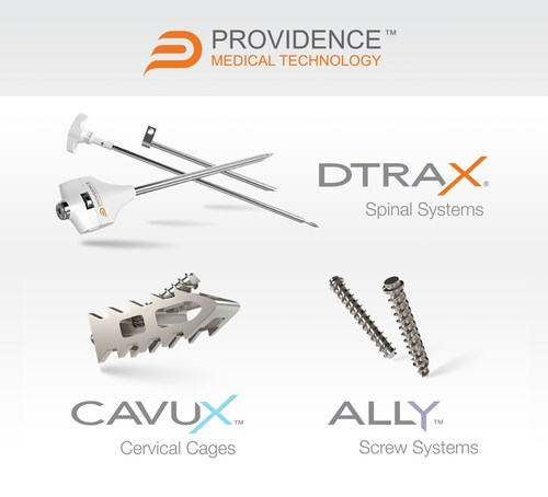 Providence Medical Technology's family of products for cervical spinal fusion includes instruments, intervertebral cages, orthopedic bone screws, and allograft bone.