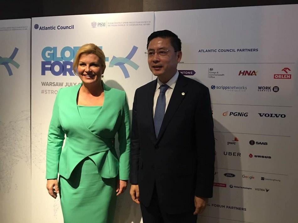 with President of Croatia