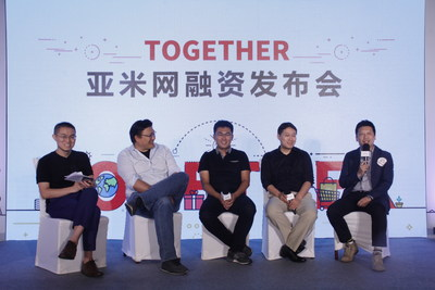 Yamibuy today announced a $10M Series A funding, (Left to Right) iHeima Genwang Wang, GGV Capital managing partner Hans Tung, Yamibuy founder and CEO Alex Zhou, K2VC managing partner Shiyu Wang, and New Oriental general manager of investment business department Zheng Zhao were joined at Sofitel Wanda Beijing Hotel in Beijing, China.