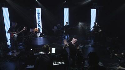Tournage de la prestation de Yann Perreau, la première de la série Les Concerts SiriusXM dans les Studios Piccolo (Groupe CNW/Sirius XM Canada Holdings Inc.)