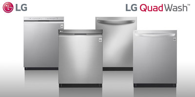 LG QuadWash dishwashers are rolling out at retailers nationwide with four new series, totaling 14 new models in different finishes.