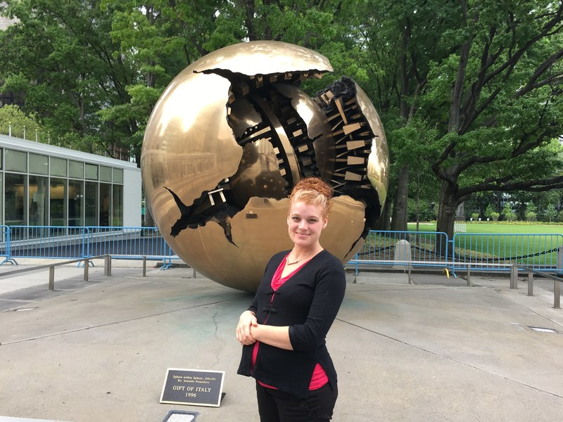 Dr. Jessica Shade, The Organic Center's Director of Science Programs, at United Nations Headquarters