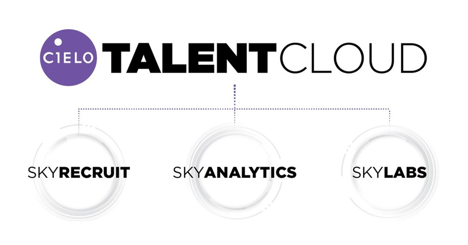 Cielo TalentCloud is composed of SkyRecruit, Cielo's exclusive Candidate Relationship Management (CRM) platform for candidate attraction, sourcing and engagement, SkyAnalytics, Cielo's approach to data-driven decision making, and SkyLabs, Cielo's innovation engine.