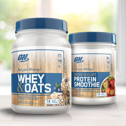 Optimum Nutrition introduces new Greek Yogurt Protein Smoothie and Whey & Oats – helping make high-protein breakfasts fast and easy