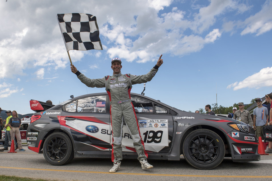Travis Pastrana Celebrates Victory at Mt Washington Hillclimb