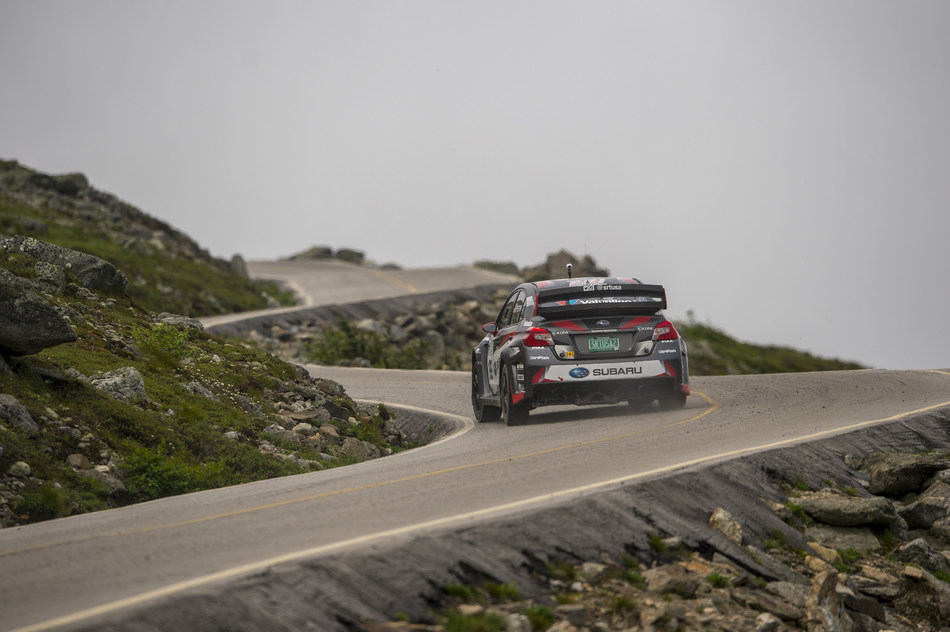 Travis Pastrana Pilots His Subaru WRX STI to the Summit of Mt Washington in Record Time