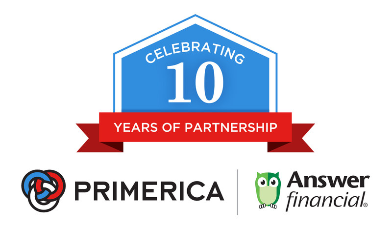 Answer Financial and Primerica - 10 Years Of Partnership
