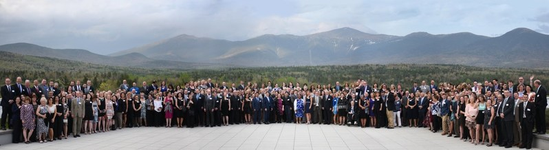 Acadia Insurance employees commemorate the company's 25th Anniversary at the Omni Mount Washington Resort in New Hampshire.