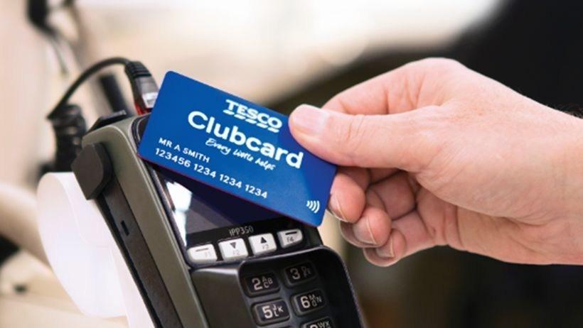 Tesco's new contactless Clubcard (PRNewsfoto/Thames Card Technology)