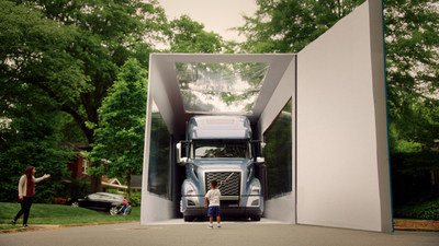 Volvo Trucks North America recently achieved a GUINNESS WORLD RECORDS title for the Largest object unboxed with the help of a 3-year-old Joel Jovine who has a passion for Volvo trucks. Jovine opened the 80'x14'x18' box, unboxing the new Volvo VNL model.