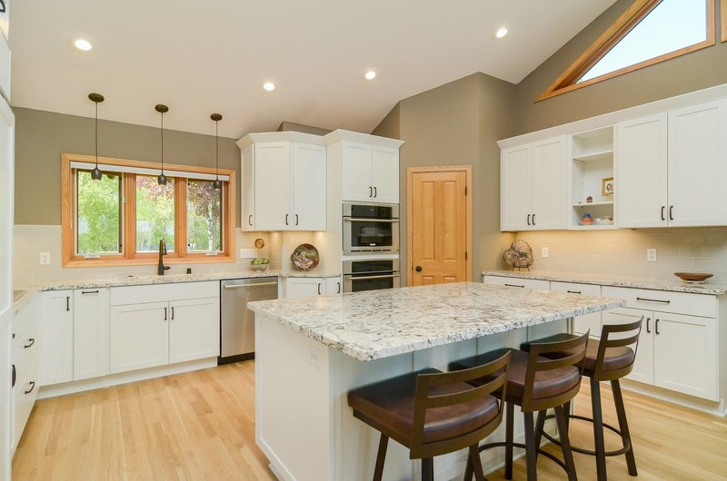 Updated kitchen in Prior Lake log home