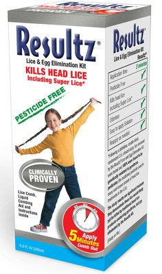 RESULTZ® Pesticide-Free Lice & Egg Elimination Kit, newly cleared by FDA for use in the U.S., requires just 5 minutes to work, the shortest time for lice products.