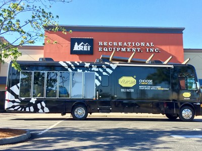 Vibram's 38-foot mobile cobbler unit is now on tour at an REI near you...
