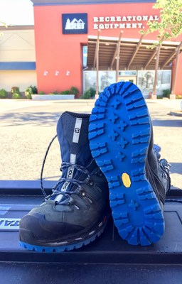 Try Vibram's 80th anniversary limited edition blue Carrarmato sole.