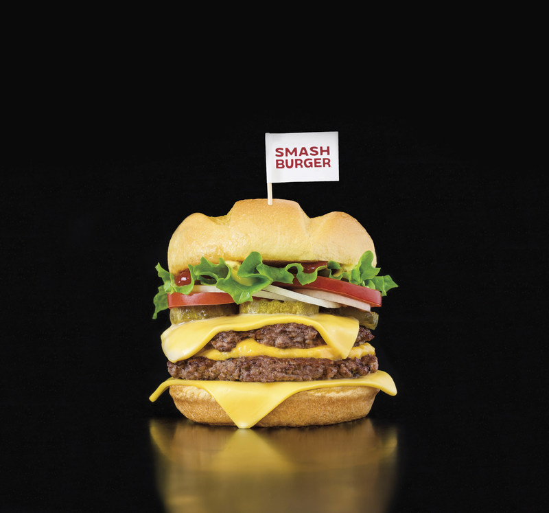 """SMASHBURGER LAUNCHES """"TRIPLE DOUBLE"""" BURGER  It's the stuff burger dreams are made of … two layers of juicy beef, three layers of melted cheese, wrapped up in an artisan bun. Smashburger is making dreams come true, adding the all-new Triple Double to its national menu on July 11, 2017."""