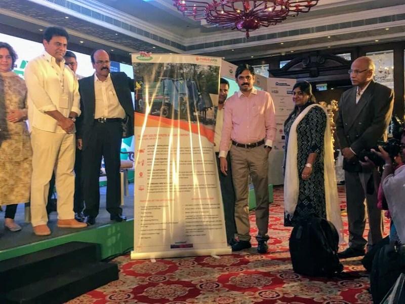 GHMC Minister K Taraka Rama and Mayor Bonthu Rammohan introduce Smart City Waste Management System
