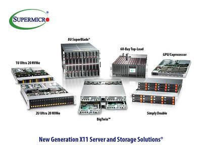 Supermicro apresenta os sistemas SuperServer, SuperStorage e SuperBlade X11 de nova geração.