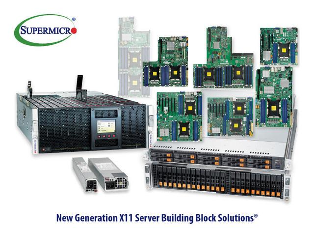 Supermicro lança amplo portfólio de Building Block Solutions do servidor X11 de nova geração