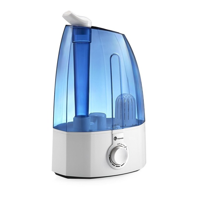 Cool Mist Humidifier, TaoTronics Ultrasonic Humidifiers for Bedroom with 3.5L/0.95 gallon Large Capacity, Classic Dial Knob Control and Two 360° Rotatable Mist Outlets, US Plug 120V