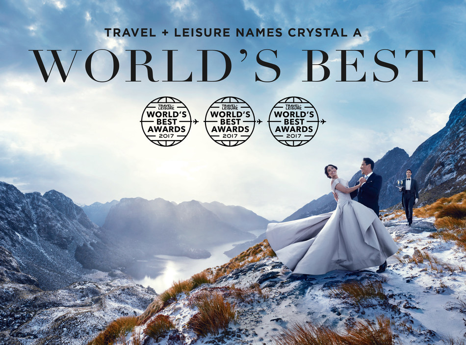 """Crystal River Cruises and Crystal Yacht Expedition Cruises earn top accolades from Travel + Leisure. In the lauded magazine's 2017 """"World's Best Awards,"""" Crystal River Cruises was voted """"Best River Cruise Line"""" and Crystal Yacht Expedition Cruises was voted """"Best Small-Ship Ocean Cruise Line."""""""