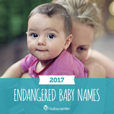 BabyCenter's Endangered Baby Names 2017