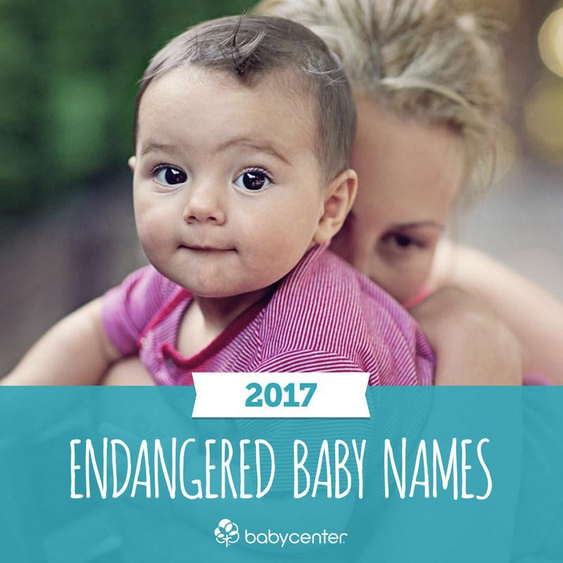 BabyCenter's Endangered Baby Names 2017