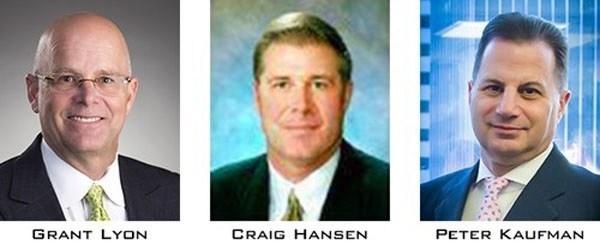Caissa Capital Partners (L-R) Grant Lyon, Craig Hansen, Peter Kaufman (PRNewsfoto/Caissa Capital, LLC)