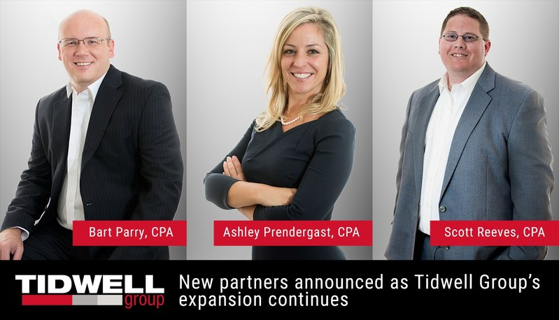 """New partners announced as Tidwell Group's expansion continues. """"Each of these individuals has proven able to consistently provide value and solutions to our growing client base,"""" said J. Barry Tidwell, Tidwell Group National Managing Partner. """"As Tidwell Group continues to expand its national presence, the addition of these outstanding team members will enable us to continue to provide the value and exceptional service our clients deserve."""""""