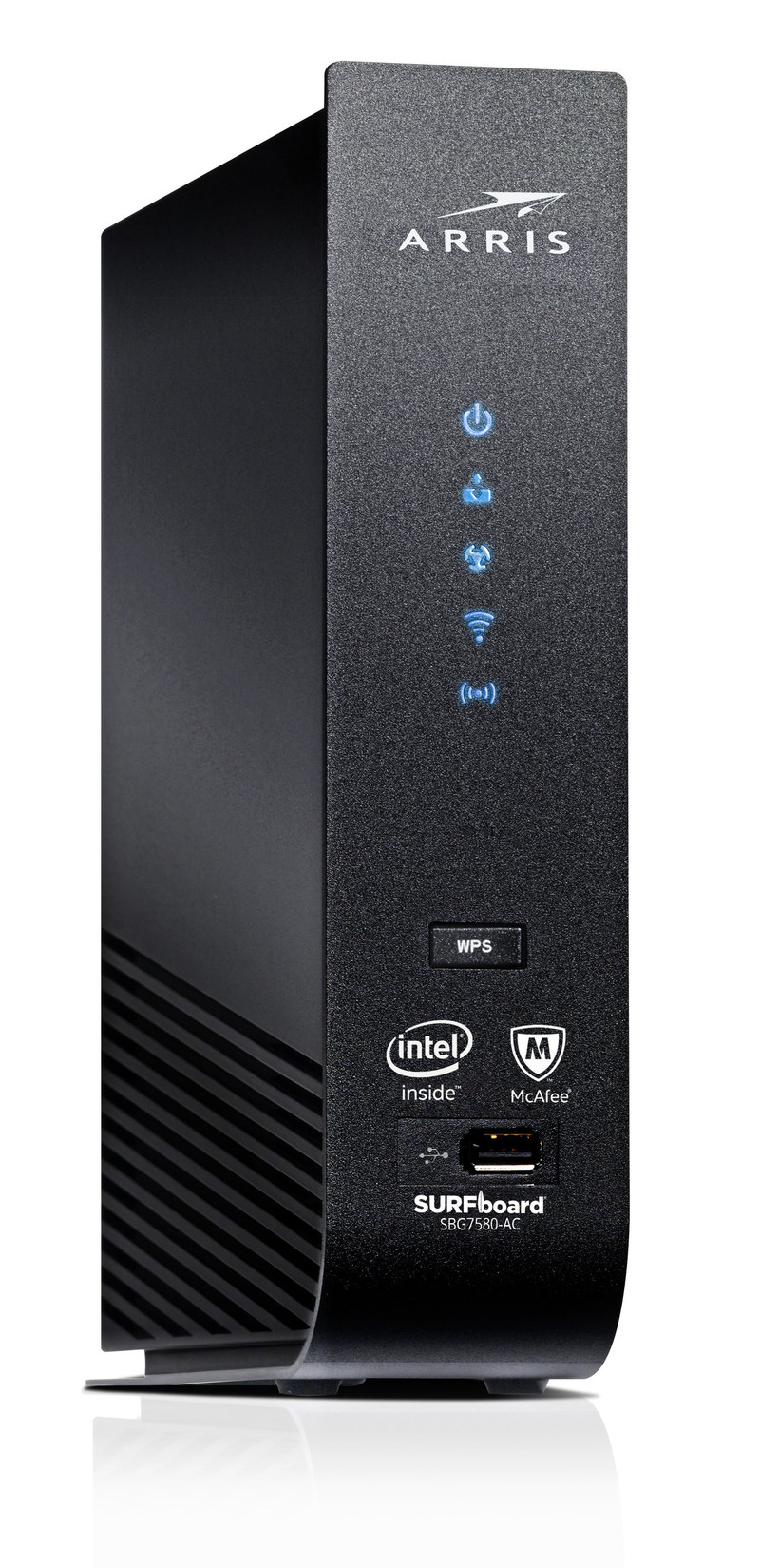 ARRIS SURFboard® SBG7580-AC with ARRIS Secure Home Internet by McAfee delivers cybersecurity protection to devices in the home – including IoT devices – in a single product