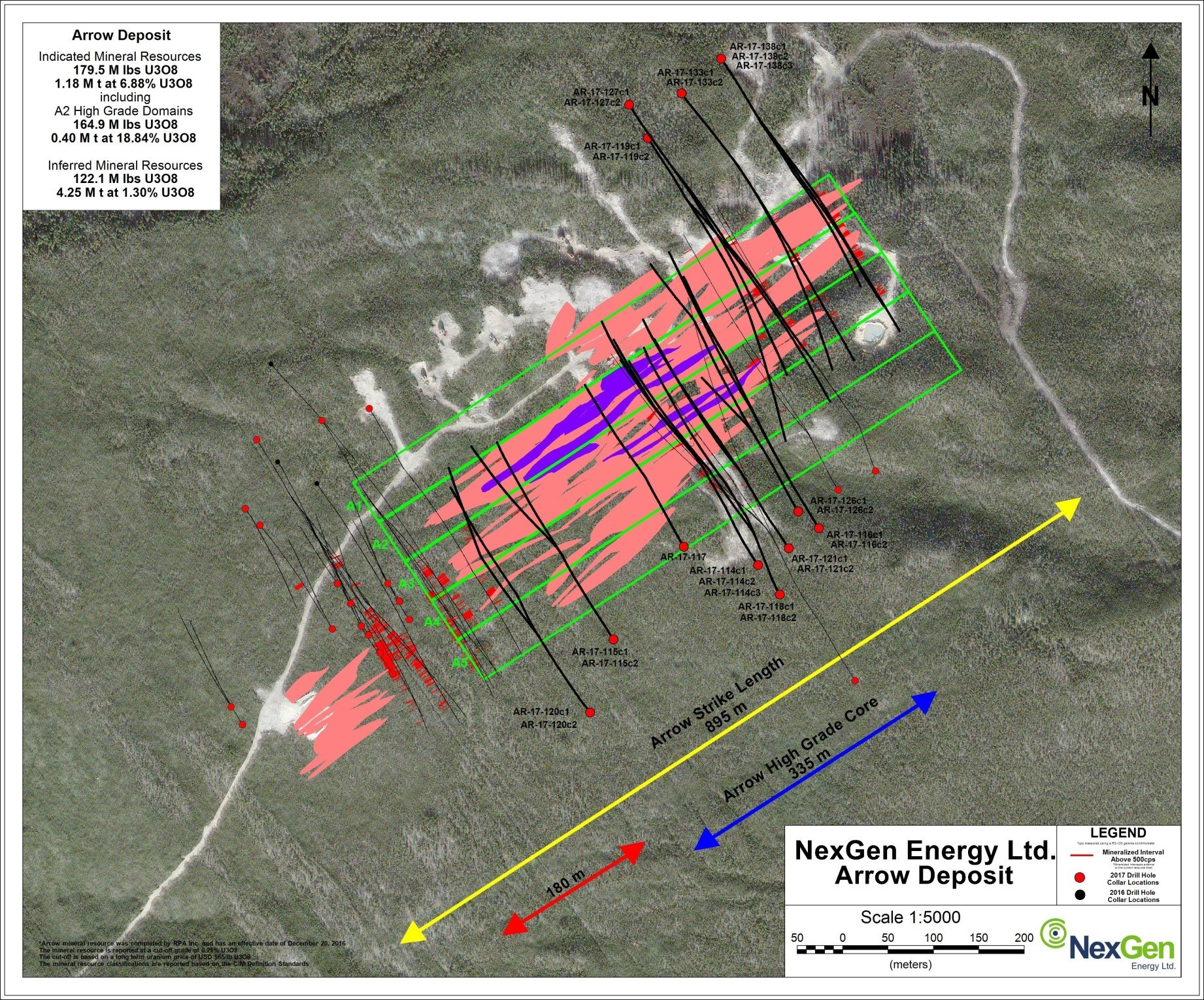 Figure 4: Drill Hole Locations (CNW Group/NexGen Energy Ltd.)