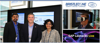 Brian Ehricke of Mahindra North America with Team Bristlecone at SAP Leonardo Live 2017 (PRNewsfoto/Bristlecone Inc)